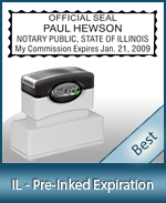The Highest quality notary commission stamp for Illinois.