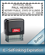 This durable, quality Notary commission stamp for Illinois is available right here. Fast shipping!