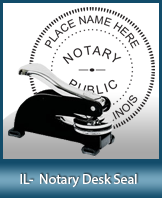 This sturdy Illinois Notary Desk Seal is made of steel construction and built to last.