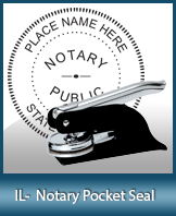 This Illinois notary seal is made to last. This quality, affordable notary embosser can be purchased right here.