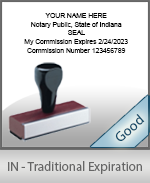 Indiana Notary Traditional Expiration Stamp