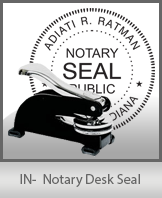 This sturdy Indiana Notary Desk Seal is made of steel construction and built to last.