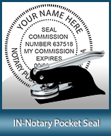 This Indiana notary seal is made to last. This quality, affordable notary embosser can be purchased right here.