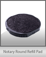 Round Self-Inking<br> Notary Stamp Refill