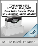 The Highest quality notary commission stamp for Iowa.