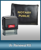 A notary supply kit designed for renewing notaries of Iowa.