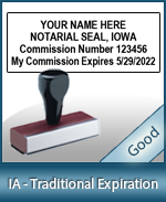 IA-COMM-T - Iowa Notary Traditional Expiration Stamp