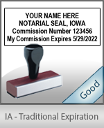 Iowa Notary Traditional Expiration Stamp