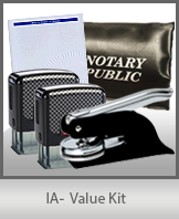 A money-saving arrangement of notary supplies for Iowa. Fast Delivery!
