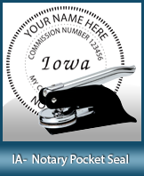 This Iowa notary seal is made to last. This quality, affordable notary embosser can be purchased right here.