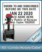 DATER-KS - Kansas Notary Combination Date Stamp