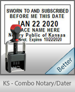 Kansas Notary Combination Date Stamp