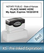The Highest quality notary commission stamp for Kansas.
