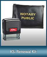 A notary supply kit designed for renewing notaries of Kansas.