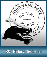 This sturdy Kansas Notary Desk Seal is made of steel construction and built to last.