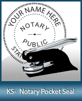 This Kansas notary seal is made to last. This quality, affordable notary embosser can be purchased right here.