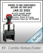 Kentucky Notary Combination Date Stamp