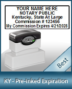 The Highest quality notary commission stamp for Kentucky.