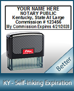 This durable, quality Notary commission stamp for Kentucky is available right here. Fast shipping!