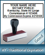 Kentucky Notary Traditional Expiration Stamp