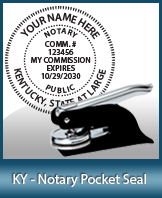 This Kentucky notary seal is made to last. This quality, affordable notary embosser can be purchased right here.
