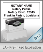 The Highest quality notary commission stamp for Louisiana.