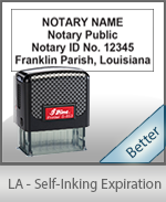 This durable, quality Notary commission stamp for Louisiana is available right here. Fast shipping!