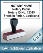 LA-COMM-T - Louisiana Notary Traditional Expiration Stamp