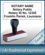 LA-COMM-T - Louisiana Notary Traditional Expiration Stamp