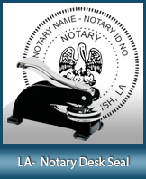 This sturdy Louisiana Notary Desk Seal is made of steel construction and built to last.