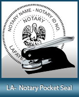 This Louisiana notary seal is made to last. This quality, affordable notary embosser can be purchased right here.