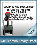 DATER-ME - Maine Notary Combination Date Stamp