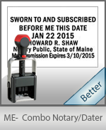 Maine Notary Combination Date Stamp
