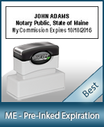 The Highest quality notary commission stamp for Maine.