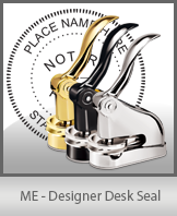 This quality, affordable hand-held notary seal for Maine can be purchased right here.