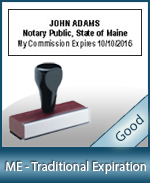 ME-COMM-T - Maine Notary Traditional Expiration Stamp