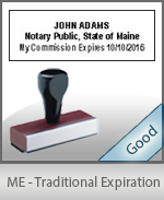 Maine Notary Traditional Expiration Stamp