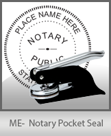 This Maine notary seal is made to last. This quality, affordable notary embosser can be purchased right here.