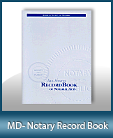 This Maryland Notary Record Book, also known as a Notary Journal is an essential product for all notaries.
