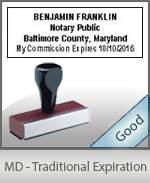 Maryland Notary Traditional Expiration Stamp