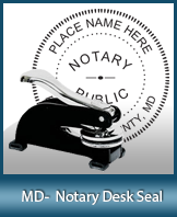 This sturdy Maryland Notary Desk Seal is made of steel construction and built to last.