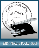 This Maryland notary seal is made to last. This quality, affordable notary embosser can be purchased right here.