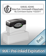The Highest Quality Notary Commission Stamp For Massachusetts