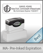 The Highest quality notary commission stamp for Massachusetts.