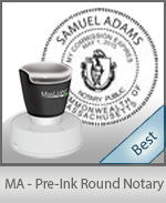 This High-quality Round Massachusetts Notary stamp gives a clean, clear impression every time.