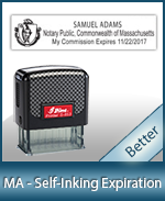 This durable, quality Notary commission stamp for Massachusetts is available right here. Fast shipping!