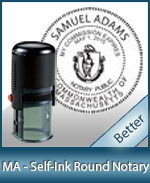 An affordable round self-inking notary stamp for Massachusetts can be purchased quickly right here.