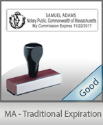 Massachusetts Notary Traditional Expiration Stamp
