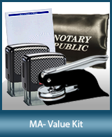 A money-saving arrangement of notary supplies for Massachusetts. Fast Delivery!