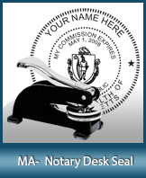 This sturdy Massachusetts Notary Desk Seal is made of steel construction and built to last.